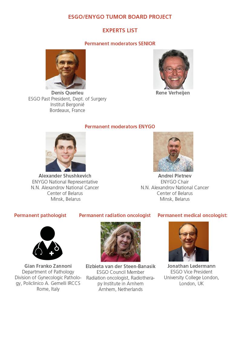 List of ESGO experts
