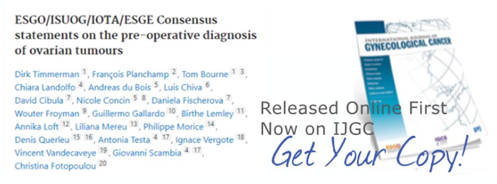 New ESGO-ISUOG-IOTA-ESGE Consensus Statement on Pre-Operative Diagnosis of Ovarian Tumours_NEW